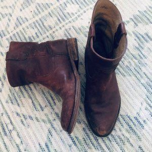 Frye Brown Ankle Boots-Size 8